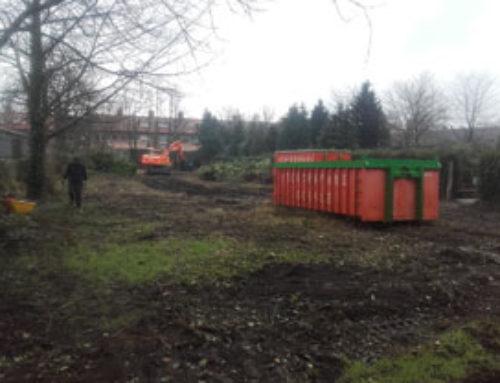 Groen rooien + grond frezen kerkhof