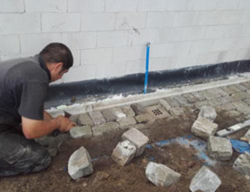 Infra bestrating+dolomietsplit herstellen na grondwerk aanbouw
