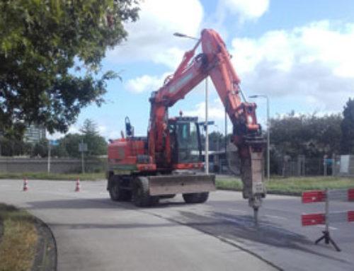 Infra betonweg slopen