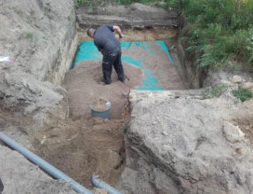 Infra infiltratiekratten hemelwater+drainagezand aanleggen